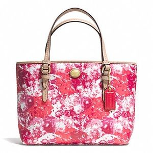 Coach Peyton Pink & Orange Floral Tote